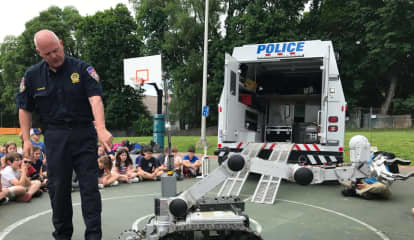 Fifth-Graders 'Amazed' By Westchester County Police Hazmat Robot