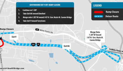 Expect Delays: Weeklong Paving Project To Start On I-87 Near New Tappan Zee Bridge