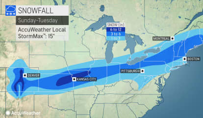 Accumulating Snowfall Now Expected For Early Week Storm