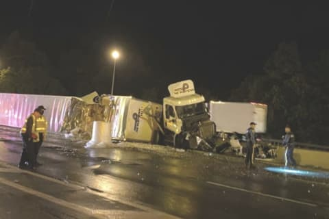 Not One, Not Two, But Three Tractor-Trailers Crash On Notorious Route 287 Stretch