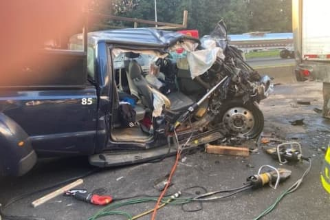 Pickup Truck Driver Extricated After I-95 Crash In Fairfield County