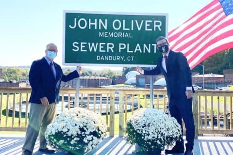 Comedian John Oliver's On Hand As Danbury Dedicates Sewage Plant In His Honor