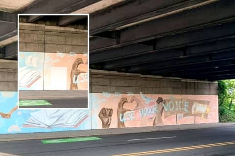 Black Fist Removed From Mural On Garden State Parkway Overpass, Citizens See 'Whitewash'