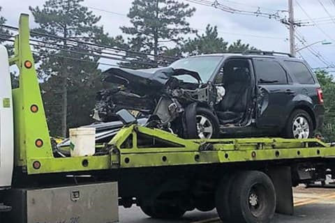 Head-On Paramus Crash Sends Two To Hospital