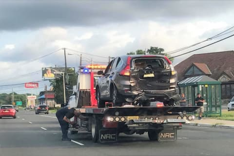 Multi-Vehicle Route 4 Hackensack Crash Crunches Rear Of SUV, Front Of Sedan
