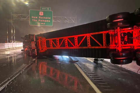 Tow Operators Come To Rescue After Tractor-Trailer Hangs Off I-95 In Westchester Crash