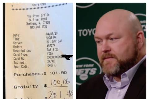 NY Jets GM Joe Douglas Keeps Leaving Fat Tips At Morris County Restaurant