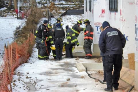 UPDATE: Ridgewood Firefighters Rescue Construction Worker Who Fell 20 Feet Into Basement