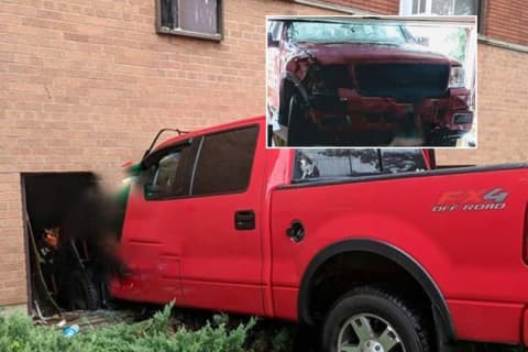 Police Ticket Unlicensed Pickup Driver Who Smashed Through Hackensack Basement Apartment Window