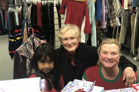 Actress Glenn Close, Friends Help Brighten Holidays For Seven Families In Northern Westchester