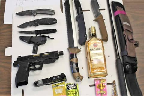 Passaic Sheriff: Route 23 Jalopy Stop Turns Up Gas Handgun, Knives, Baton, More