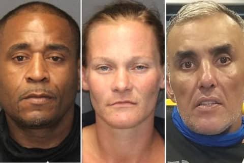 Rochelle Park PD: Machete, Crack, Stolen Plates Found, Three Arrested In Stolen Car