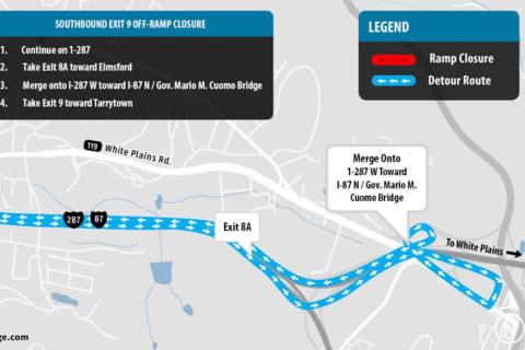 Lane, Ramp Closures To Affect New Tappan Zee Bridge