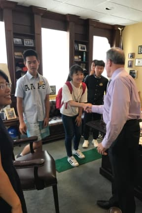 Students From China Visit Rockland