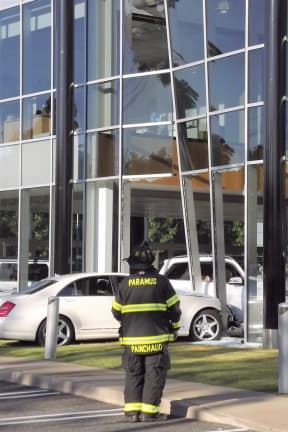 Driver, 78, Slams Sedan Into Route 17 Mercedes Dealership, Closes Showroom
