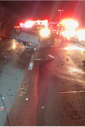 Multi-Vehicle Crash Involving Overturned Vehicle Causes Hours-Long I-84 Closure
