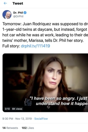 Mom Talks About Twins' Hot-Car Deaths With Dr. Phil