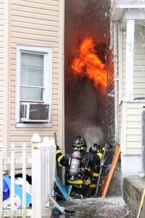 17 People, Three Dogs, Cat Flee Three-Home Passaic Fire