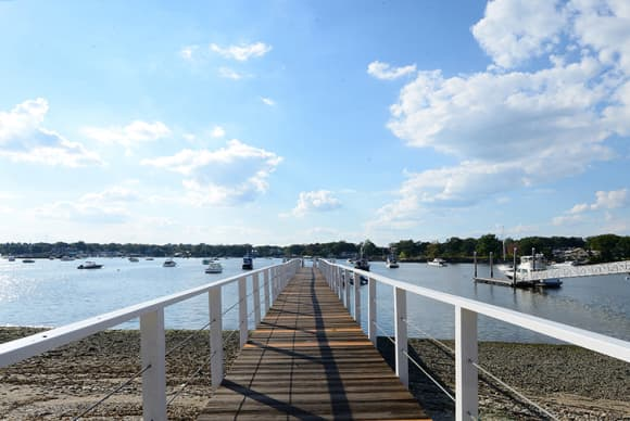 Edgewater Point, where residences double as beach houses