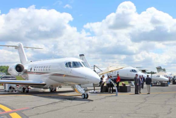 Multimillion-dollar aircraft featured as thousands attend Westchester County Airport event