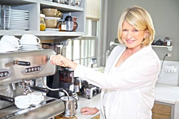 Martha Stewart, at home