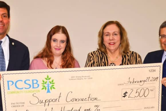 PCSB donates $2,500 to Support Connection