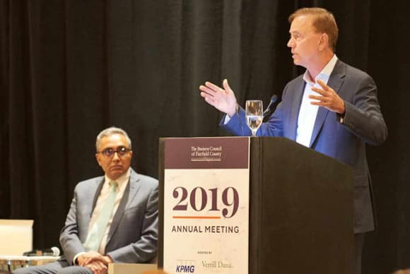 Gov. Ned Lamont to business council crowd: 'We're just getting started'