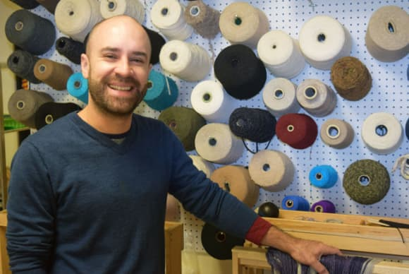 Bridgeport artist Ruben Marroquin brings weaving into the digital age