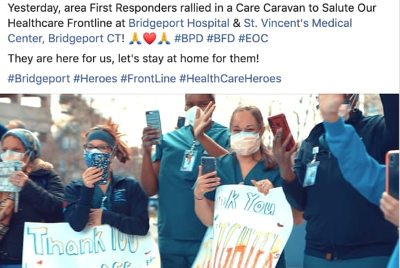 Around Fairfield County: Caravan Thanks Hospital Staff, Meals For Children, Volunteers Needed