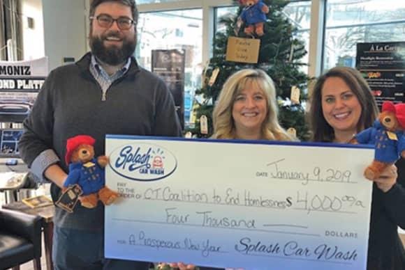 Splash Car Wash customers help raise $4,000 for families facing homelessness