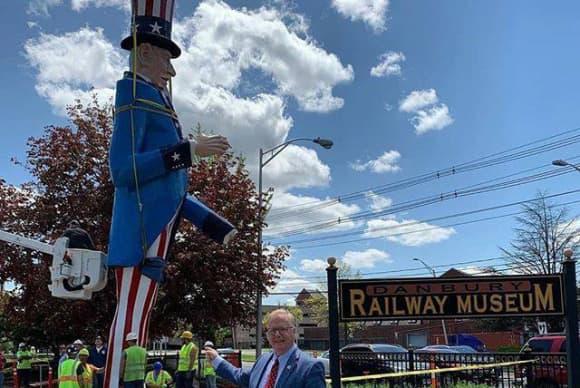 Railway Museum to host iconic Danbury Fair Uncle Sam statue