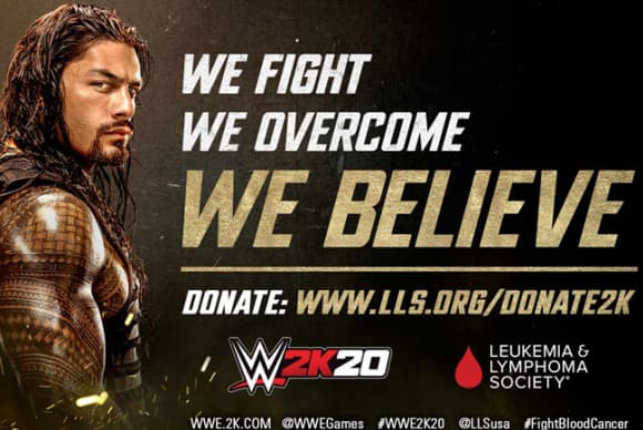 WWE and Leukemia & Lymphoma Society team with 2K on blood cancer campaign