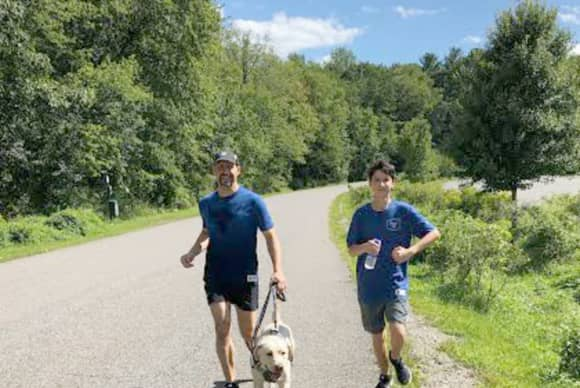 Run A Marathon Blind? Guiding Eyes Running Guide Dogs Make It Possible