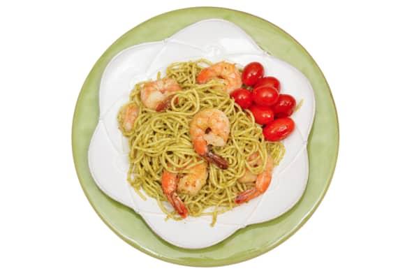 Lemon Zucchini Pesto with Shrimp