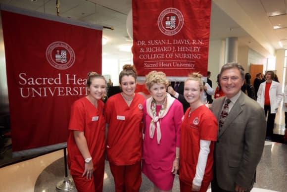 SHU names College of Nursing after Davis, Henley