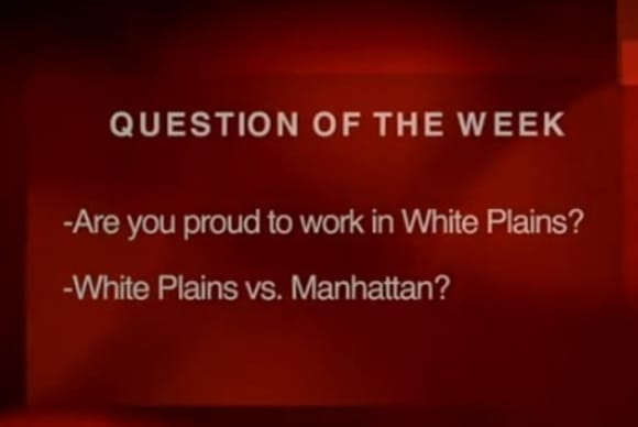 Suits on the Street: Are you proud to work in White Plains?