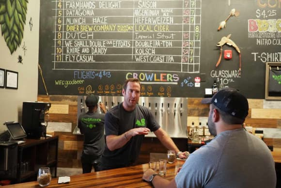 Warrior brewer: Mike Chiltern is all chips in with his White Plains brewery and event space