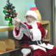 Santa visited kids at the East Rutherford Library.