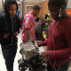Students in Mount Vernon High School's automotive repair program.