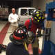 The Mahwah Fire Department holds a training session with the new forcible entry door.