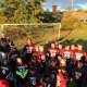 Ossining Little League Football players enjoy Saturday Night Lights.