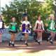 Irish Dancers catch air at Ridgewood's health fair.