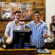 The Shelesky brothers of Demarest run the register at Thomaston Feed on Westwood Avenue in River Vale.