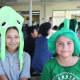 Peekskill Middle School students wear crazy hats in honor of Spirit Week.