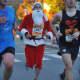 Brian Lang, formerly of Dumont, runs a marathon in full Santa gear.