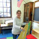 """Teachers eagerly and enthusiastically prepared for tomorrow's school reopening, when students will come """"home"""" to learn again at Webster Elementary School in New Rochelle."""