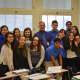 John Slanina with his students