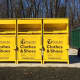 The clothing recycling bins added to Franklin Lakes.