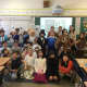 Eastchester elementary school students dressed as historical figures.