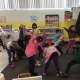 The students get a feel for yoga.